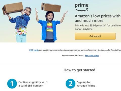 Amazon Prime EBT