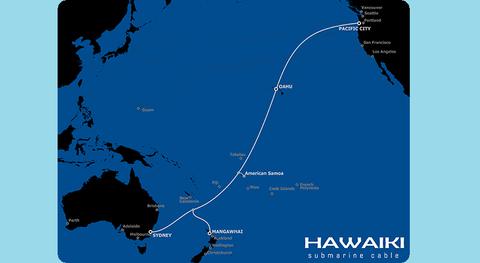 Submarine cable network Hawaiki TE Subcom