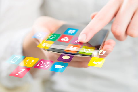 Apps on a smartphone screen
