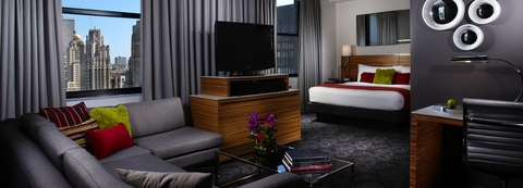 A Guestroom In The Hard Rock Hotel Chicago