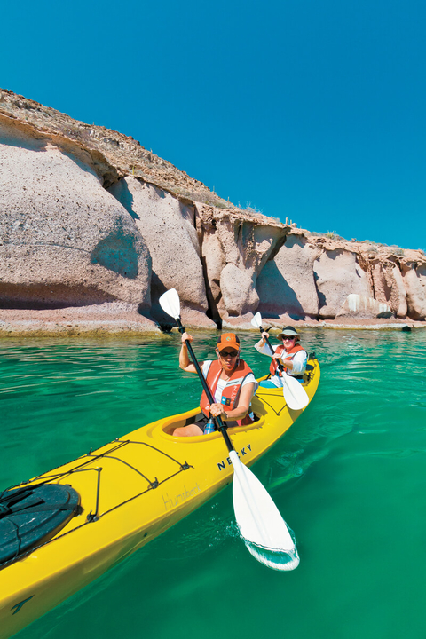 Lindblad Expeditions kayak in Sea of Cortez