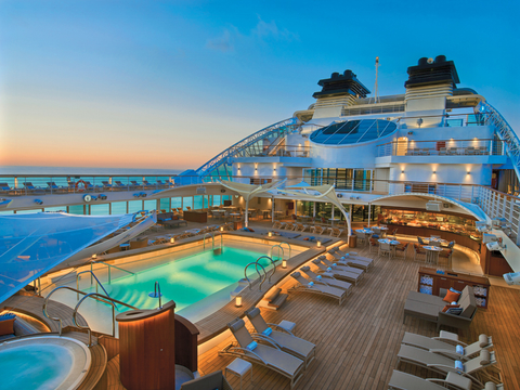 Seabourn Encore Pool Deck at Night