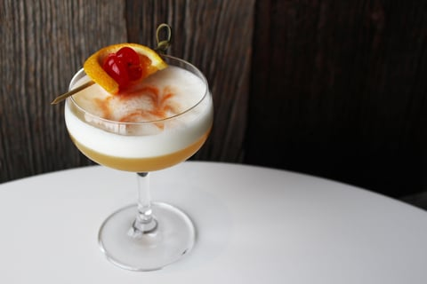 Waconia Sour cocktail at FireLake Grill House & Cocktail Bar - National Whiskey Sour Day 2017 recipes