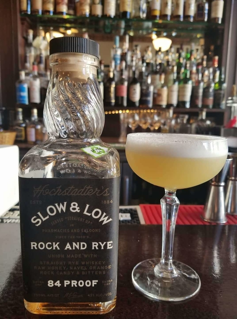 Slow and Low Whiskey Sour cocktail at Glunz Tavern Chicago - National Whiskey Sour Day 2017 recipes