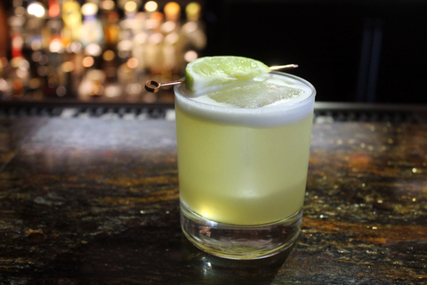 Lemongrass Bourbon Sour cocktail at Copper Lounge - National Whiskey Sour Day 2017 recipes