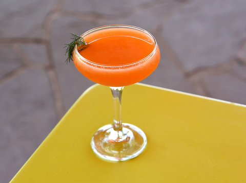 Out of a Hat cocktail at Chef's Garden at Crystal Springs Resort by Ali Koppel - Summer seasonal recipes