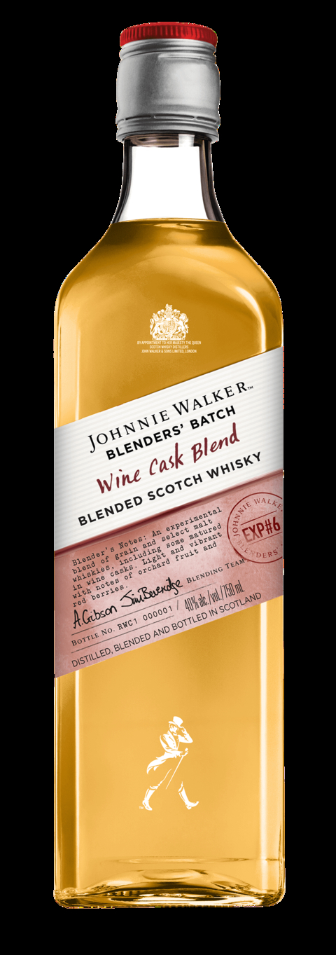 Johnnie Walker Blended Scotch Whisky Blender's Batch Wine Cask Blend - What's Shakin' week of August 28