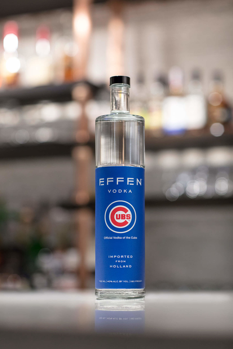 EFFEN Vodka limited edition Chicago Cubs and Wrigley Field commemorative bottle - What's Shakin' week of August 28