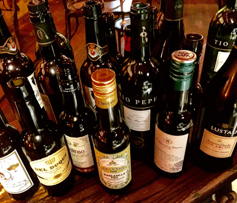 An array of bottles of sherry at Taberna de Haro - The Spanish Sherry Awakening in America