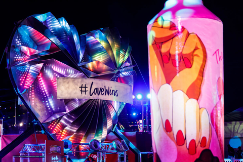 Smirnoff's Love Wins pop up bar is an example of messaging - 7 Things Operators can Learn from EDC Las Vegas