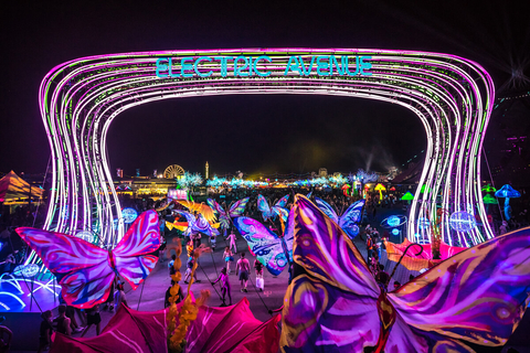 Electric Avenue neon sign at EDC - 7 Things Operators can Learn from EDC Las Vegas