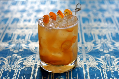 The Golden Hour cocktail by Kari Cummings of Vesta - Summer to fall transitional drink recipes
