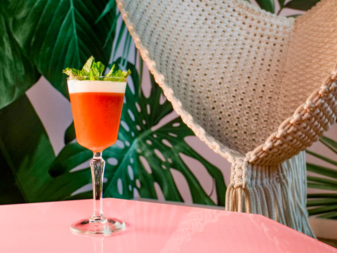 Cure What Ails You cocktail by Gareth Howells at VNYL - Summer to fall transitional drink recipes