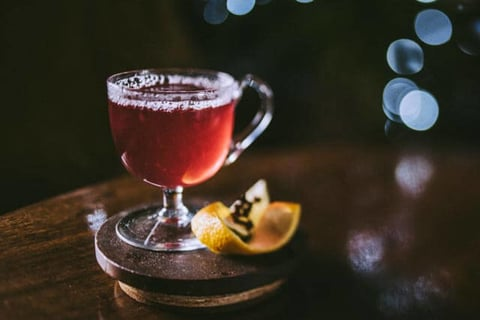 Black Cow Vodka Mooled Cranberry cocktail - 2017 National Vodka Day recipes