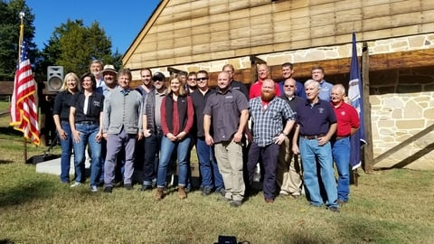 American whiskey producers at George Washington Distillery