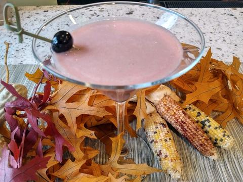 Cherry Chiffon pie cocktail by Casey Chapman at Bastille Brasserie & Bar - Thanksgiving dessert pie drink recipes