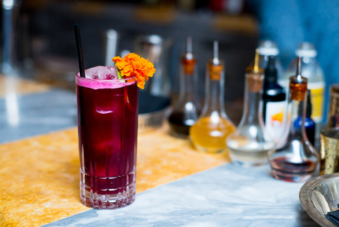 The Ottoman Cartel cocktail by Bart Cannizzaro at Byblos Miami - Fall and winter beet drink recipes