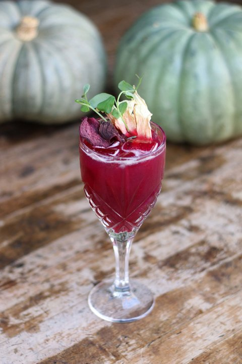 Beetle-Juice cocktail by Leyla Javadov of Café 21 - Fall and winter beet drink recipes