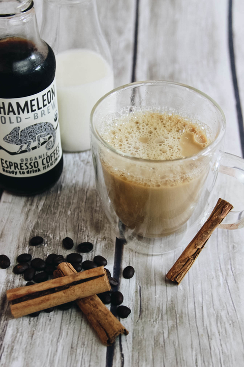 Hot Maple Horchata cocktail - Chameleon Cold-Brew drink recipes