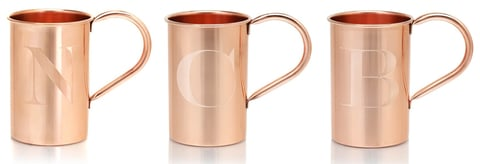 Moscow Copper Co. Monogram Mule Mug - Booze & Baubles Holiday Gift Guide