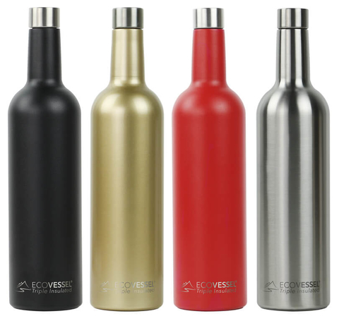 EcoVessel The VINE stainless steel wine bottle - Booze & Baubles Holiday Gift Guide
