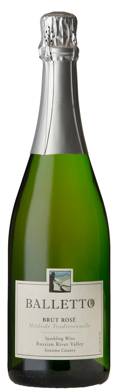 2013 Balletto Brut Rose California sparkling wine - 8 Types of Bubbly You & Your Guests Need to Know