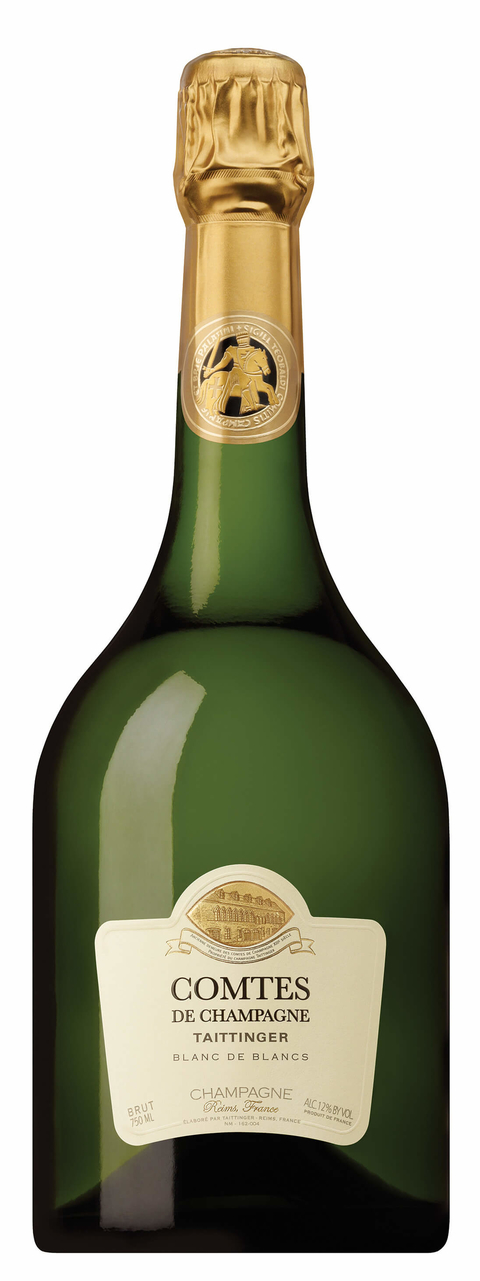 Champagne Taittinger 2006 Comtes de Champagne Blanc de Blancs - 8 Types of Bubbly You & Your Guests Need to Know