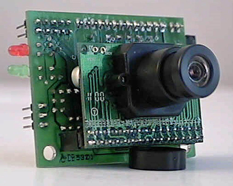 Fig 9: The CMUcam, designed at Carnegie Mellon University, was a low-cost camera system with the processing power on-board to detect and track objects. This was a big deal when it first came out in 2002, as it allowed roboticists to simplify and on-board