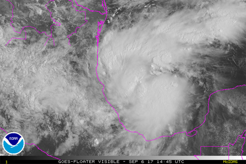 Hurricane Katia Makes Landfall on Mexico's Gulf Coast