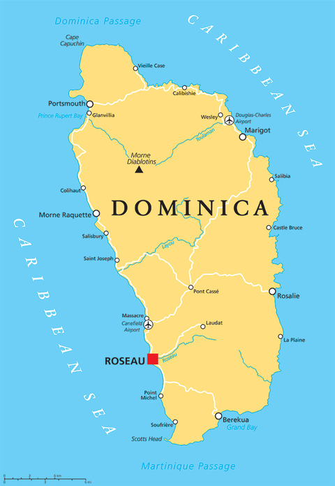 Hotels reopen in dominica following hurricane maria travel agent map of dominica sciox Images