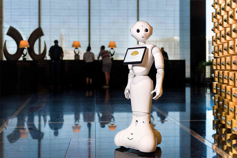 Pepper the hotel robot