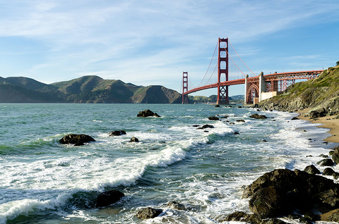 The Golden Gate in Bridge San Francisco