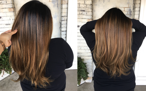 Balayage Straight Hair Brunette