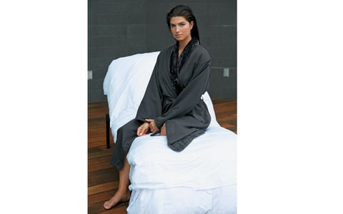 0d7acd21d6 5. Cats Eye Pattern Microfiber Chamois Robe Monarch Robe and Towel Co.  Cypress