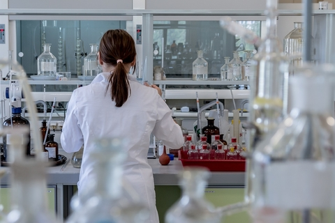 person in lab