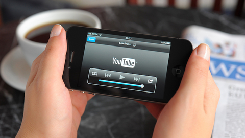 watching video on smart phone