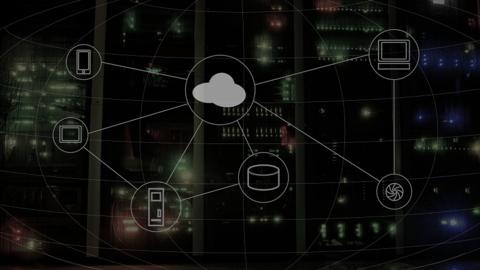 Cloud computing illustration with servers in background (Image: wynpnt / Pixabay)