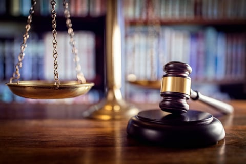 justice scales and gavel
