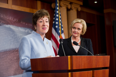 Senator Throws 'talking stick' In Collins's Office