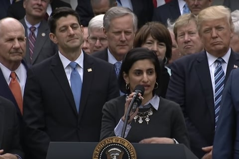 Seema Verma speaking at press conference