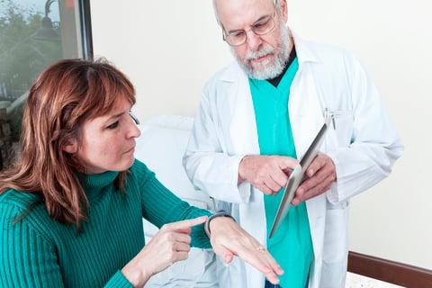 Patient wearable doc tablet