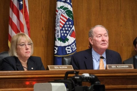 Patty Murray and Lamar Alexander during committee hearing