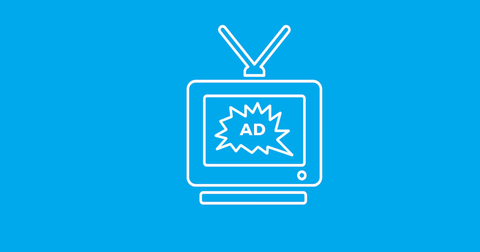TV and advertising graphic