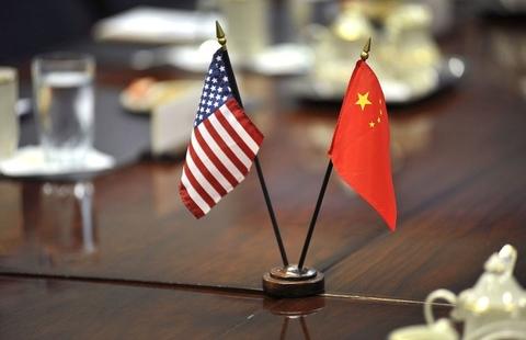 U.S. china flags