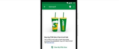 Subway ad for Google's RCS messaging (Image: Subway)