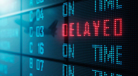 airport flight delayed