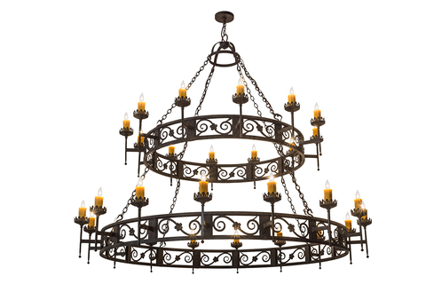 Touch of elegance majella chandelier by 2nd ave lighting hotel the chandelier has elaborate scroll accents with floral medallions and decorative bobeches which embrace 28 aloadofball Choice Image