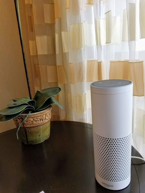 Alexa in a New York Marriott at the Brooklyn Bridge guestroom