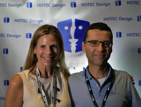 Carlos Fernandez of Marriott and Jennifer Lutton of Tuuci