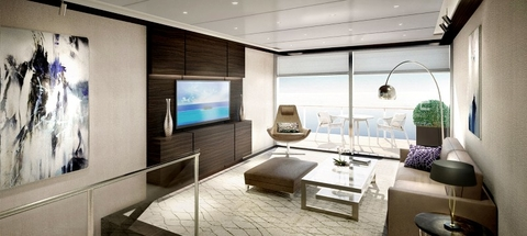 The Ritz-Carlton Yacht Collection Penthouse Duplex Suite Editorial Use Only